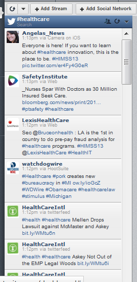 Example of Hootsuite Stream